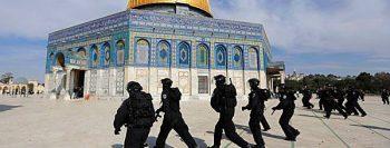 Árabes protestam contra a França no Monte do Templo