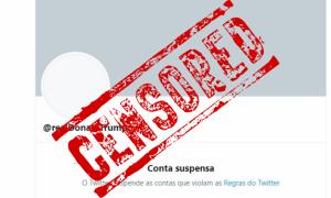 URGENTE: Twitter suspende conta de Donald Trump