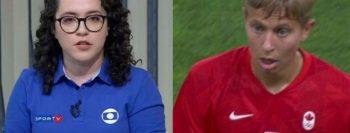 Jornalistas da SportTV usam linguagem neutra para tratar atleta